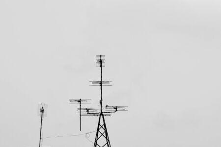 Telecommunication tower Antenna - monochrome Фото со стока