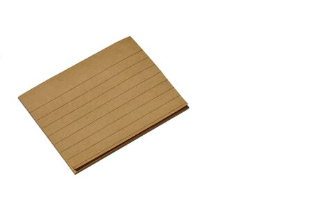 brown sticky note isolated on white background