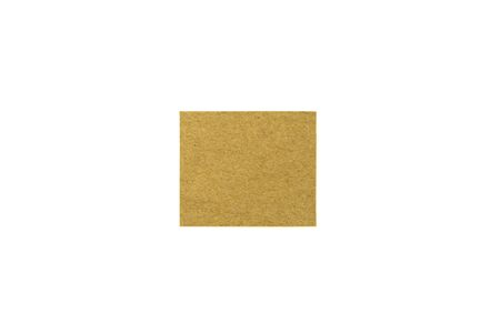 brown recycled paper square isolated on white background.