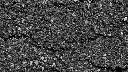 cracked asphalt road surface texture - background