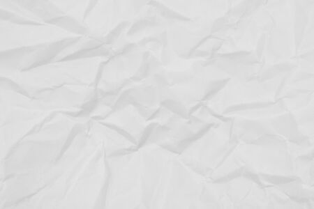 crumpled of white paper - texture - background