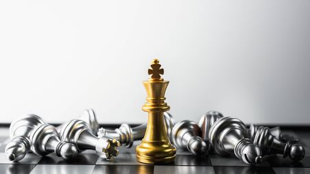 golden king chess standing encounter defeat enemies.