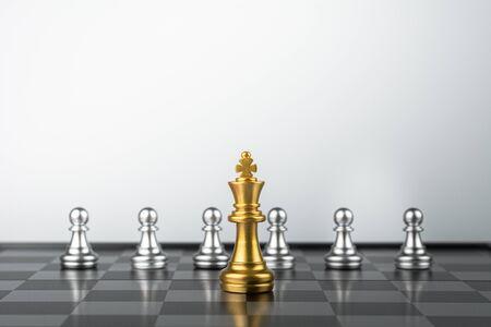 golden king chess standing encounter enemies.