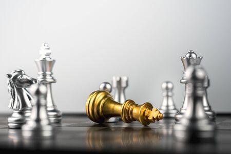 golden king chess defeat in cordon of enemies.