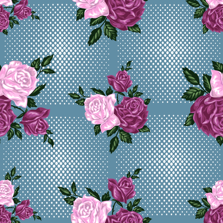 wallpape: SEamless pattern with roses