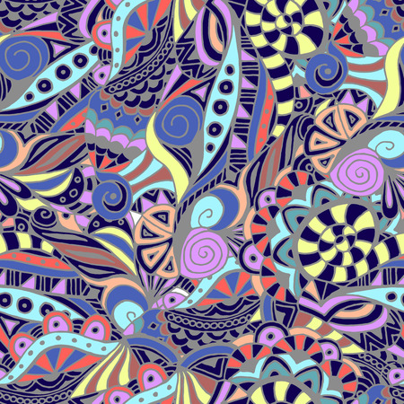 abstract doodle: Abstract seamless pattern, color, doodle