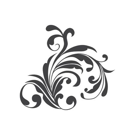 white bacground: Abstract element pattern on a white bacground, black and white color, hand drawing