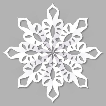 Paper Christmas snowflake, vector illustration Illustration