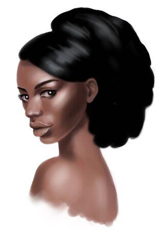 portrait young beautiful fashion african woman