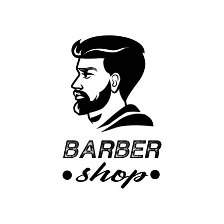Barber Shop . Black and white isolated vector