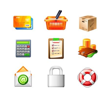 e-Commerce Icon Set Stock Vector - 13578608