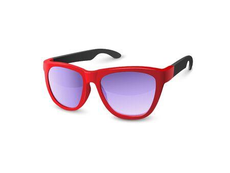 sunglasses isolated: Stylish Red Sunglasses