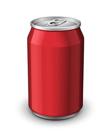 Red Aluminium Kan Vector Illustratie