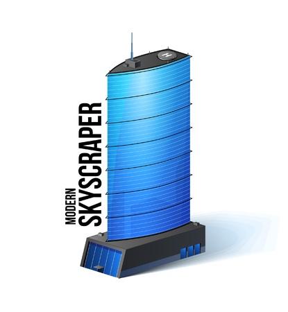 Modern Skyscraper Office Building, Business Center Stock Vector - 13735007