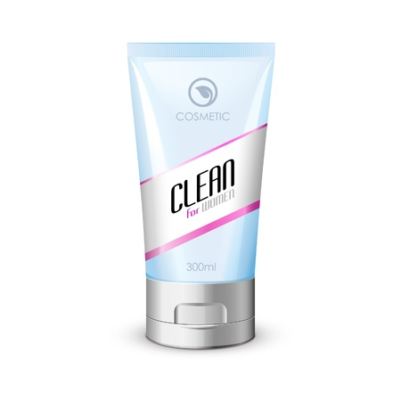 pimple: White Clean Tube Of Cream With Label