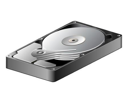 Modern Opened Hard Disk Driver  Vector Version Vector