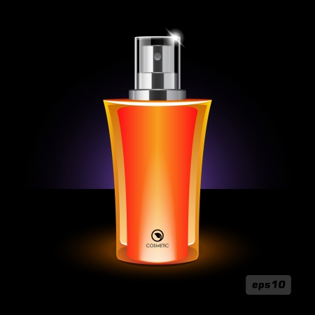 Orange Women s Perfume Bottle Vector