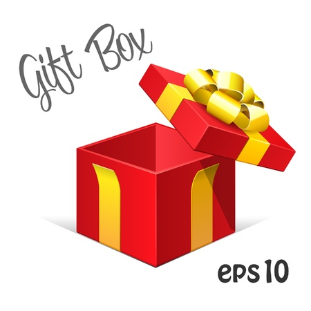 red gift box: Red Opened Gift Box