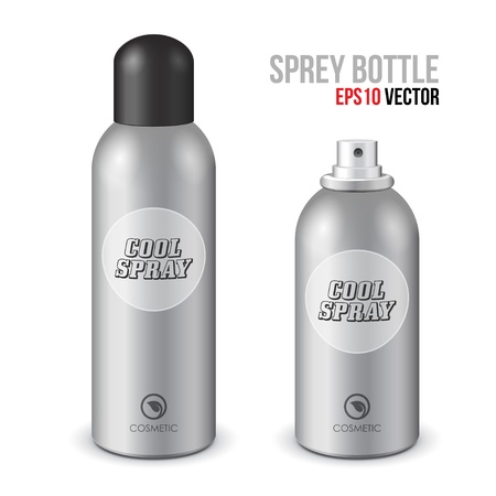 freshener: Cool Spray Gray Can Bottle