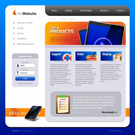 yellow pages: My-Website-Design-Template Illustration