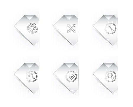 Six Paper Icons For Website Design Vector