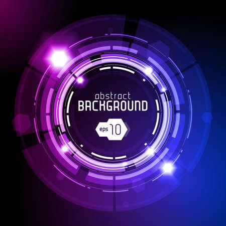 circle design: Shiny Dark Round Background Illustration