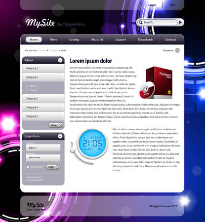 Shiny Website Template Vector