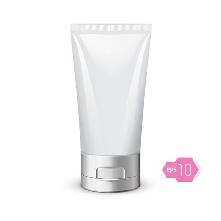 Tube Of Cream Or Gel Grayscale Silver White Clean Vector