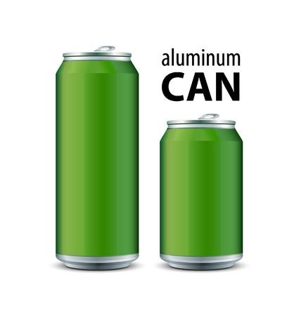 Zwei Grüne Aluminum Can