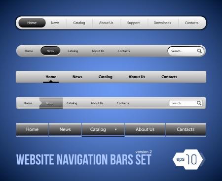Web Elements Navigation Bar Set Version 2