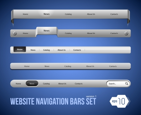 steel bar: Web Elements Navigation Bar Set Version 1