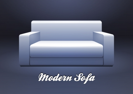 Modern White Sofa EPS10
