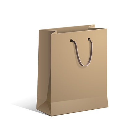 recycle bag: Carrier Paper Bag Brown Empty
