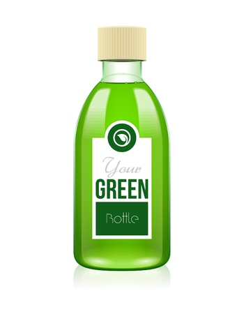 tincture: Your Green Glass Cosmetic Medicine Bottle Of Lotion, Shampoo, Foam, Soap, Perfume, Tincture, Gel Or Drugs