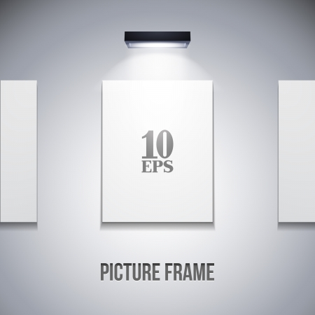 Picture On The Wall With Light Grayscale Stock Vector - 14461588