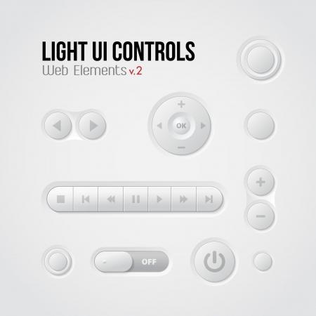 player controls: Luz de interfaz de usuario Controles Elementos Web 2: Botones, conmutadores, Reproductor de Audio y Video: Play, Stop, Pause A continuaci�n, Vectores
