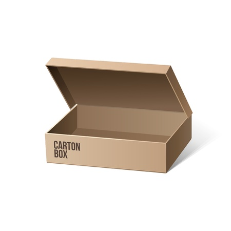 Long Carton Package Box Opened