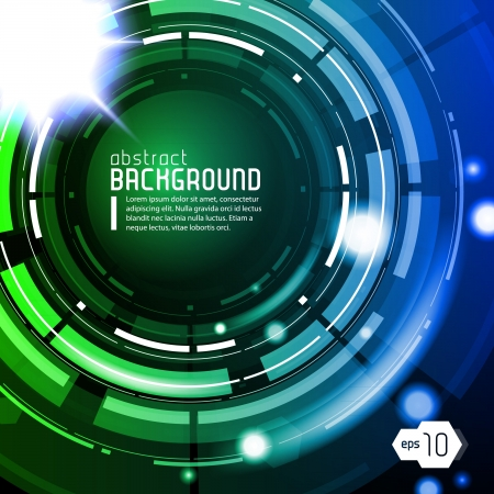 Shiny Dark Round Background Blue Green Blue
