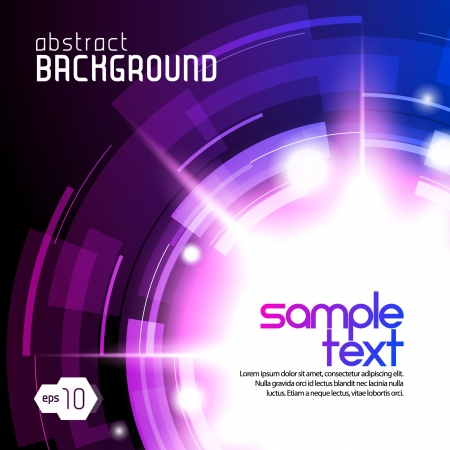 Shiny Dark Round Background 3  Violet And Blue Vector