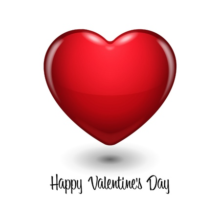 Glossy Red Heart Valentine s Day  Background  Stock Vector - 17311039