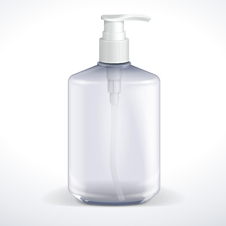 lotion: Dispenser Pump Cosmetic Or Hygiene Grayscale, Glass Bottle Of Gel, Liquid Soap, Lotion, Cream, Shampoo  Vector EPS10