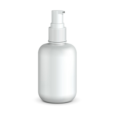 dispenser: Gel, Foam Or Liquid Soap Dispenser Pump Plastic Bottle White.  Ready For Your Design.  Product Packing