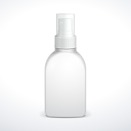 antiseptic: Spray Medicine Antiseptic Drugs Plastic Bottle White  Ready For Your Design  Product Packing  Illustration