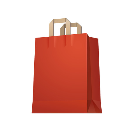 Carrier Shopping Paper Bag Red Empty  Illusztráció