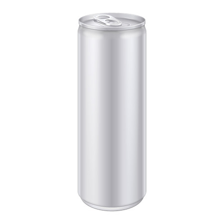 carbonated: Metal Aluminum Beverage Drink Can  Ready For Your Design  Product Packing Vector EPS10