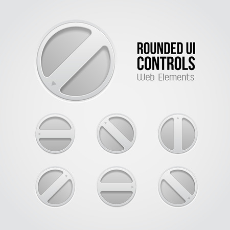 player controls: Light UI Controls Web Elements  Rotate Volume Knob, Player, Audio, Video, Equalizer, Amplifier