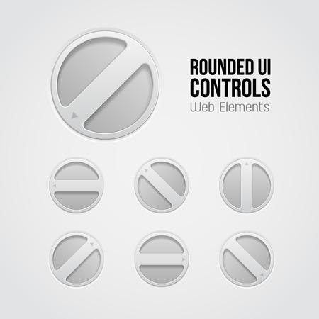 player controls: Luz UI Controles Elementos Web Gire la perilla de volumen, DVD, Audio, Video, ecualizador, amplificador