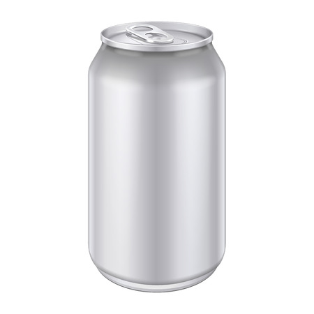 Metal Aluminum Beverage Drink Can 500ml  Ready For Your Design  Product Packing Vector EPS10  Vector