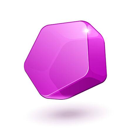 pentagon: Pentagon Shiny Glass Bubble Banner Pink Violet Purple EPS10
