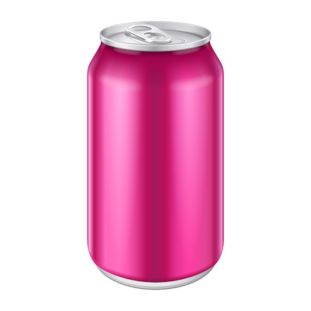 beer can: Violet Purple Magenta Pink Metal Aluminum Beverage Drink Can 500ml